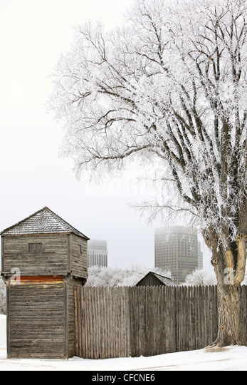 Fort Gibralter frosty winter day  Site Festival - Stock Image