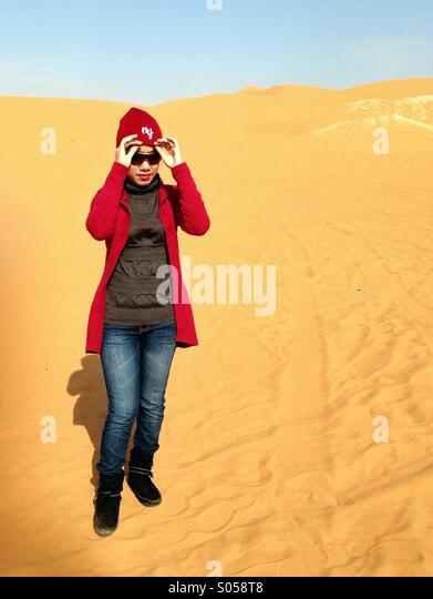 It was during november when summer almost over at Saudi Arabia , the perfect time to go outdoor with the heat of - Stock Image