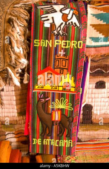 Chile San Pedro de Atacama wall hangings - Stock Image