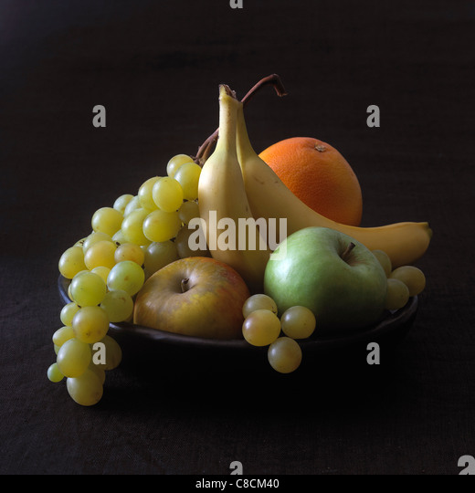 Still life with autumn fruits - Stock Image