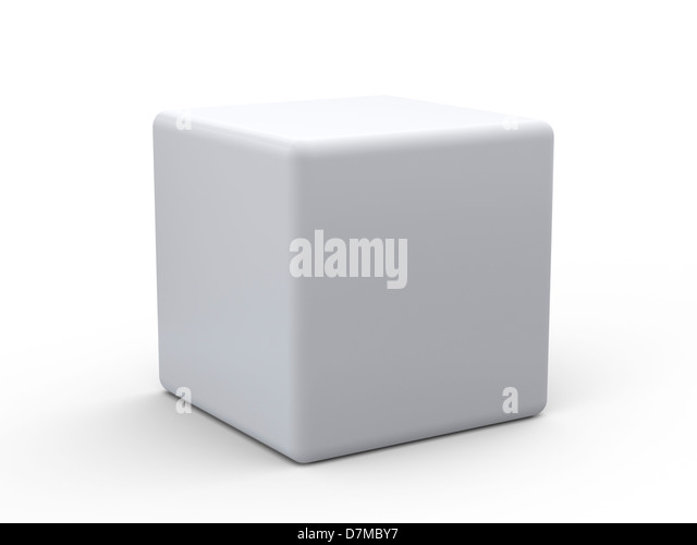 White cube, artwork - Stock Image
