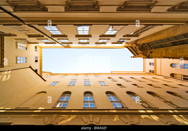 Roofs and sky. Vienna city in Austria. - Stock-Bilder