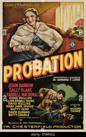 PROBATION, (aka SECOND CHANCES), Sally Blane, 1932 - Stock Image