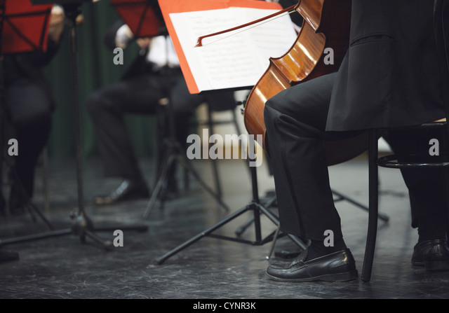 Cello musician at the concert - Stock Image