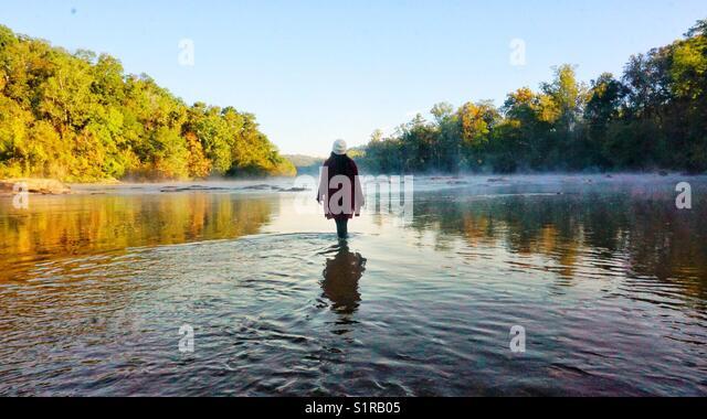 Morning fog - Stock Image