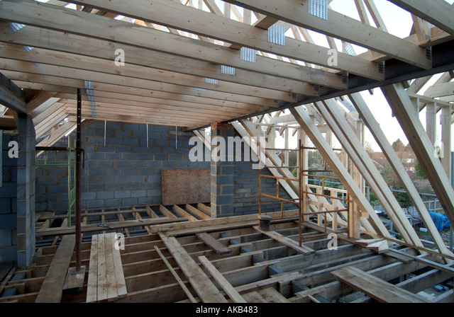 Floor joists stock photos floor joists stock images alamy for Prefabricated roof
