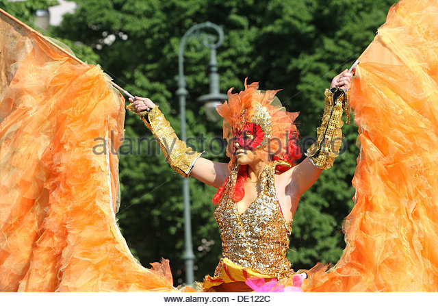 Dancer, Carnival of the Cultures, Berlin - Stock-Bilder