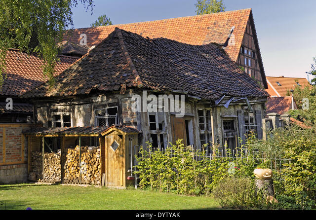 A half-timbered house - Stock Image