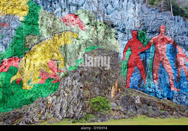 Mural prehistoria stock photos mural prehistoria stock for Mural de la prehistoria cuba