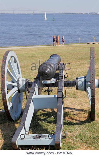 Baltimore Maryland Patapsco River port Fort McHenry National Monument and Historic Shrine Star Spangled Banner national - Stock Image
