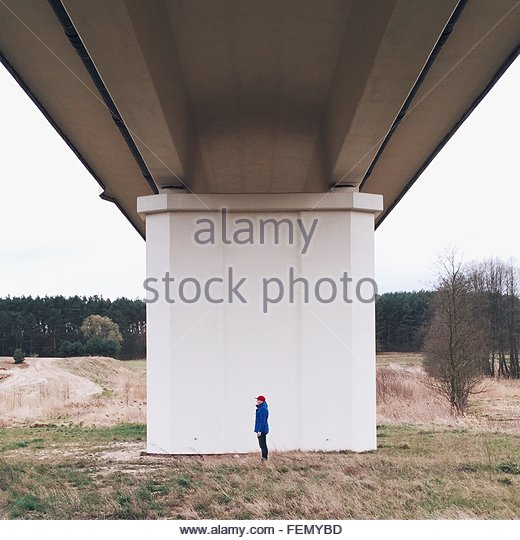 Low Angle View Of Bridge Over Landscape - Stock-Bilder