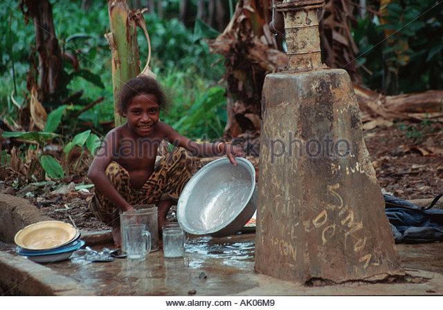 Girl / Irian Jaya / Maedchen - Stock Image