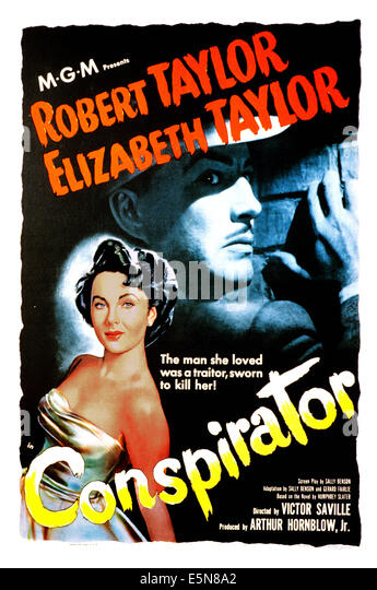 CONSPIRATOR, Elizabeth Taylor, Robert Taylor, 1949 - Stock-Bilder
