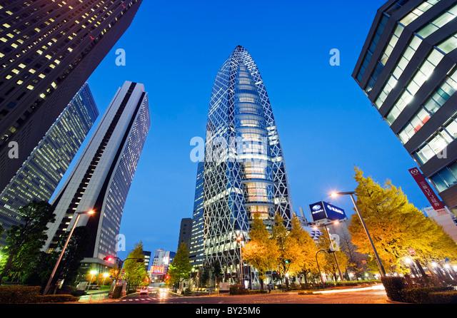 Asia, Japan, Tokyo, Shinjuku, Tokyo Mode Gakuen Cocoon Tower, Design School building - Stock Image