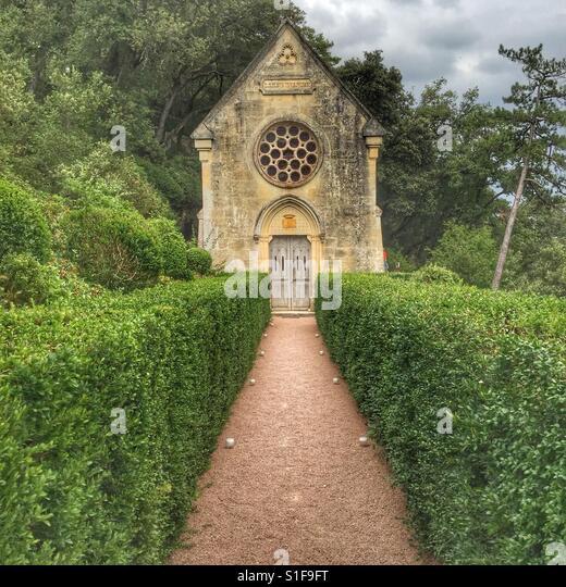 Church at the Jardin de Marqueyssac, in Sarlat, France - Stock-Bilder