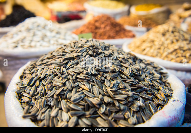 Nuts for sale in the Bazaar of Sulaymaniyah, Iraq Kurdistan, Iraq, Middle East - Stock Image