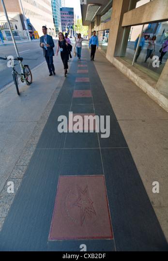 Canada's Walk of Fame, Entertainment District, Toronto, Ontario, Canada, North America - Stock Image