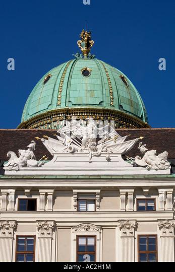 Vienna Hofburg Detail Michaelerplatz - Stock Image