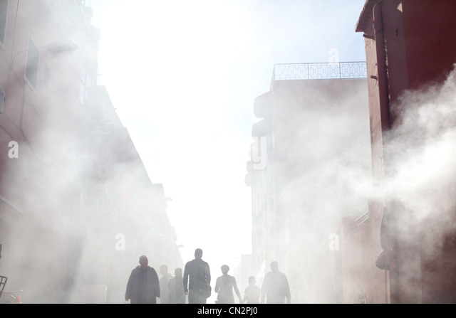 Ethereal street scene, Morocco, North Africa - Stock Image