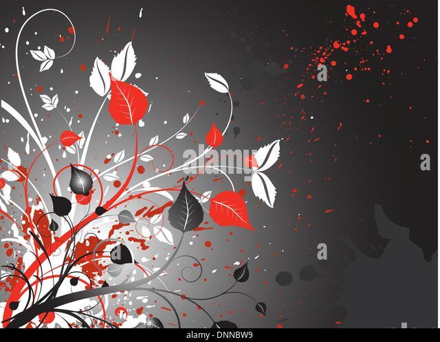 Floral grunge background - Stock-Bilder