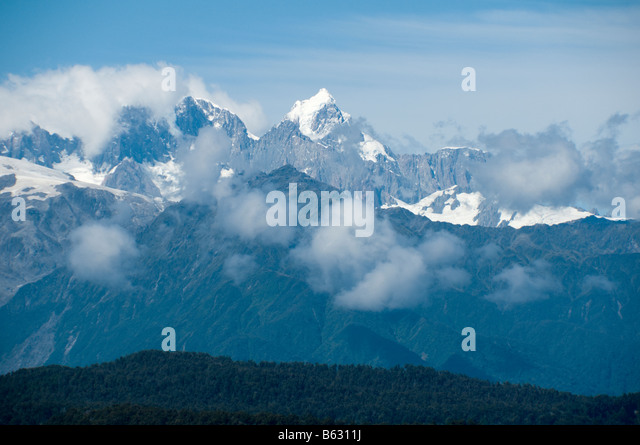 Mount Cook from Okarito, South Island, New Zealand - Stock Image