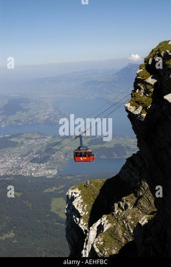 Switzerland Lucerne Mt Pilatus cable car luzern - Stock Image