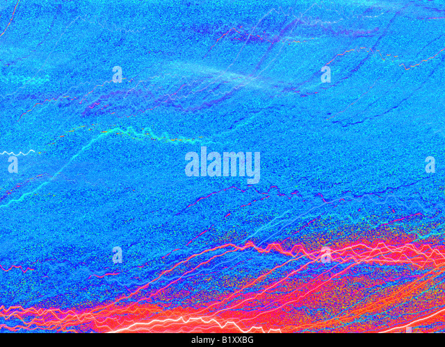 Electrical Abstract in Blue - Stock Image
