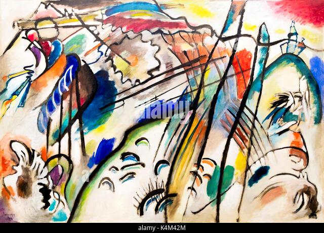Improvisation 28, by Vasily Kandinsky, 1912, Solomon R. Guggenheim Museum, Manhattan, New York City, USA, North - Stock Image