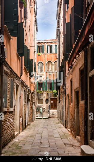 Buildings along a street, Venice, Veneto, Italy - Stock-Bilder