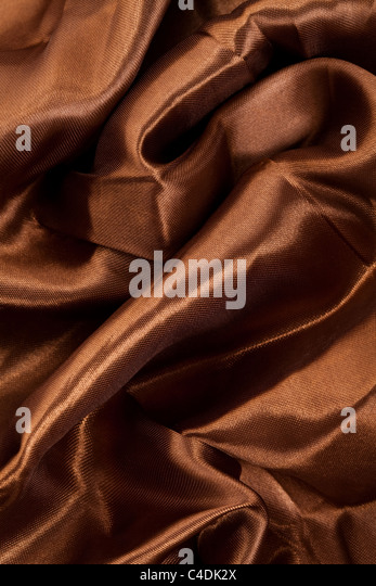 Brown Silk for background - Stock Image