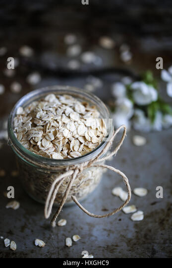 Rolled oat - Stock Image