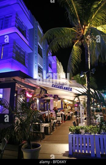 Casablanca Hotel on Ocean Drive, Miami Beach - Stock Image