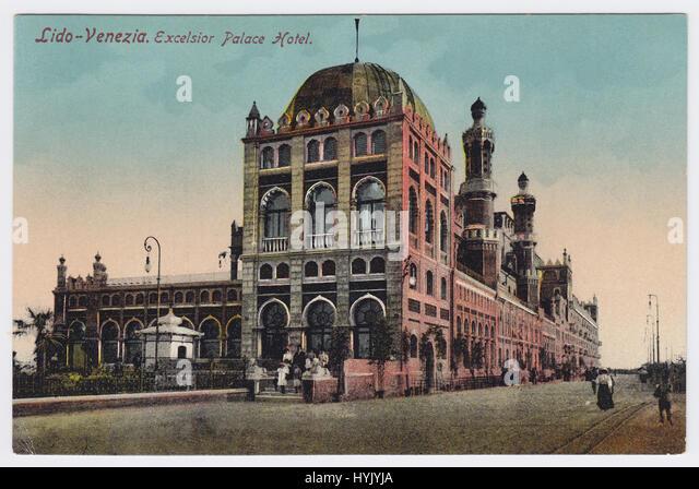 Hotel Excelsior & Lungomare Guglielmo Marconi, Venice-Lido, Italy - Stock Image