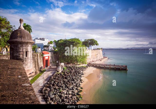 San Juan, Puerto Rico coast. - Stock-Bilder