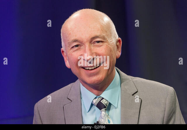 Walsall, West Midlands, UK. 20 March 2015. Comedy writer Colin Edmonds at a recording of 'The David Hamilton Show' - Stock Image