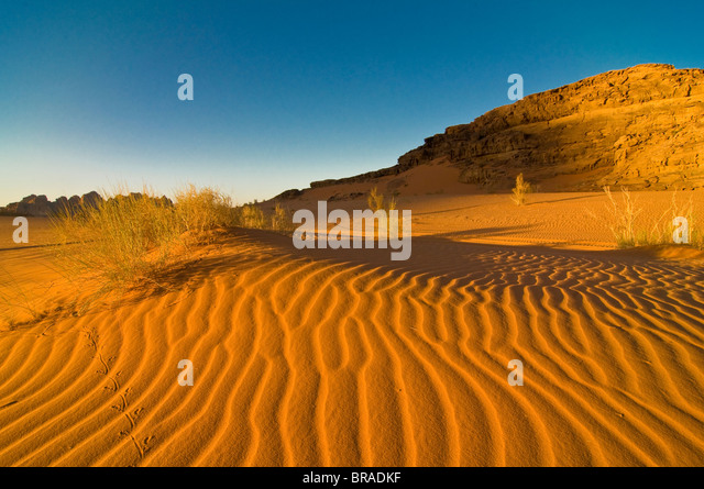 The stunning desert scenery of Wadi Rum, Jordan, Middle East - Stock Image
