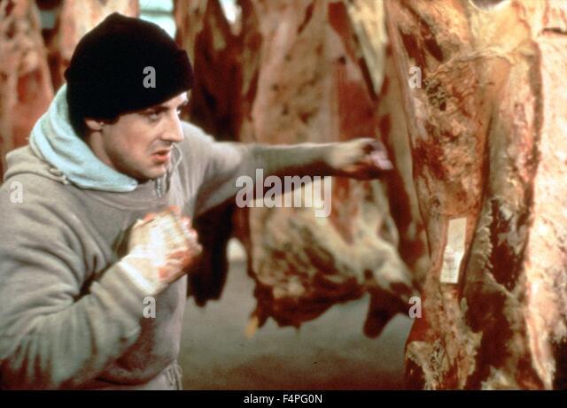 Sylvester Stallone / Rocky / 1976 directed by John G. Avildsen - Stock Image
