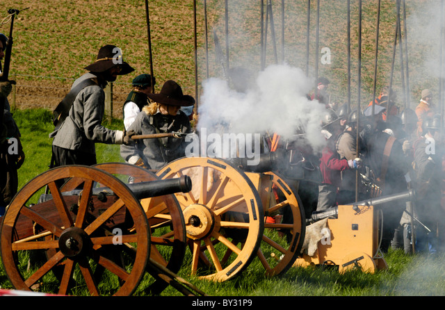 English Civil War re-enactment group - Stock Image