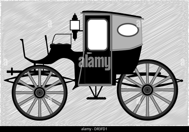 A typical Victorian or Georgian style British carriage - Stock Image