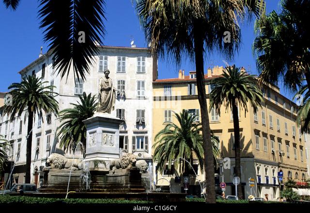 France, Corse du Sud, Ajaccio, Place Foch - Stock Image