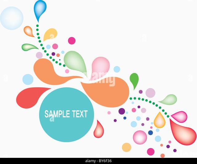 drop shaped illustration background - Stock Image