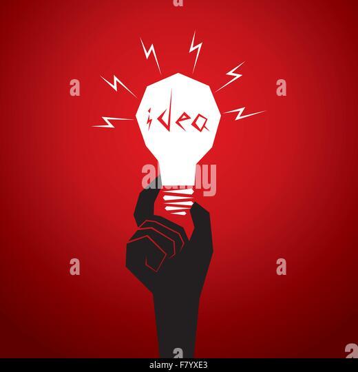 new idea concept men head in bulb - Stock Image