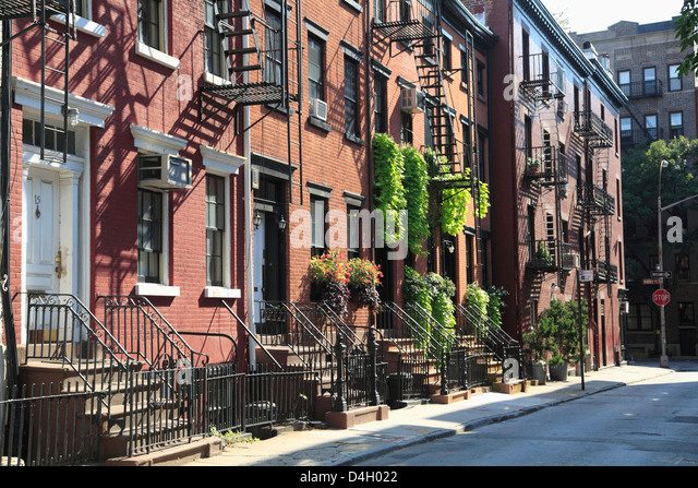 Gay Street, Greenwich Village, West Village, Manhattan, New York City, USA - Stock Image