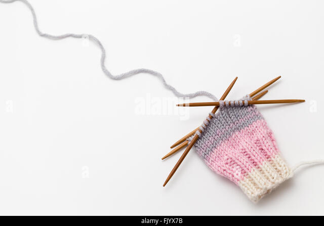 Knitting On The Round Double Pointed Needles : Double pointed stock photos images