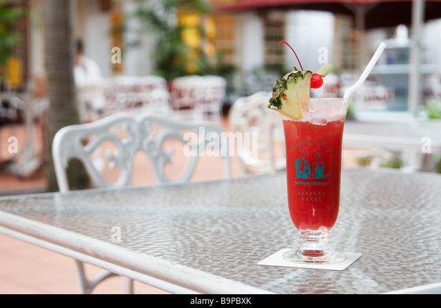 Singapore Sling At Raffles - Stock Image