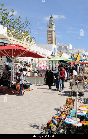 The Medina at Nabeul Tunisia - Stock Image