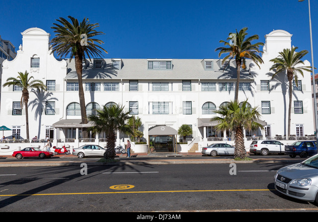 South Africa, Cape Town. Winchester Mansions, Sea Point Promenade.  Cape Dutch Architectural Style. - Stock Image