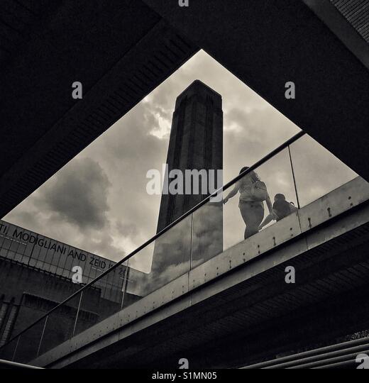 Tate modern tower, London - Stock Image