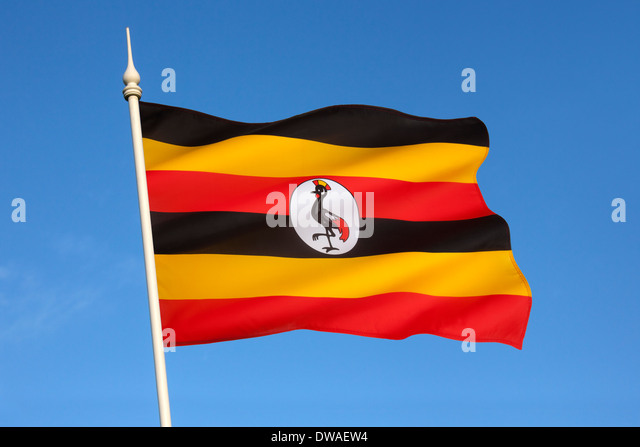 Flag of Uganda - Stock Image
