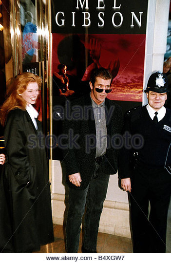 Mel Gibson actor with Faye Masterson - Stock Image